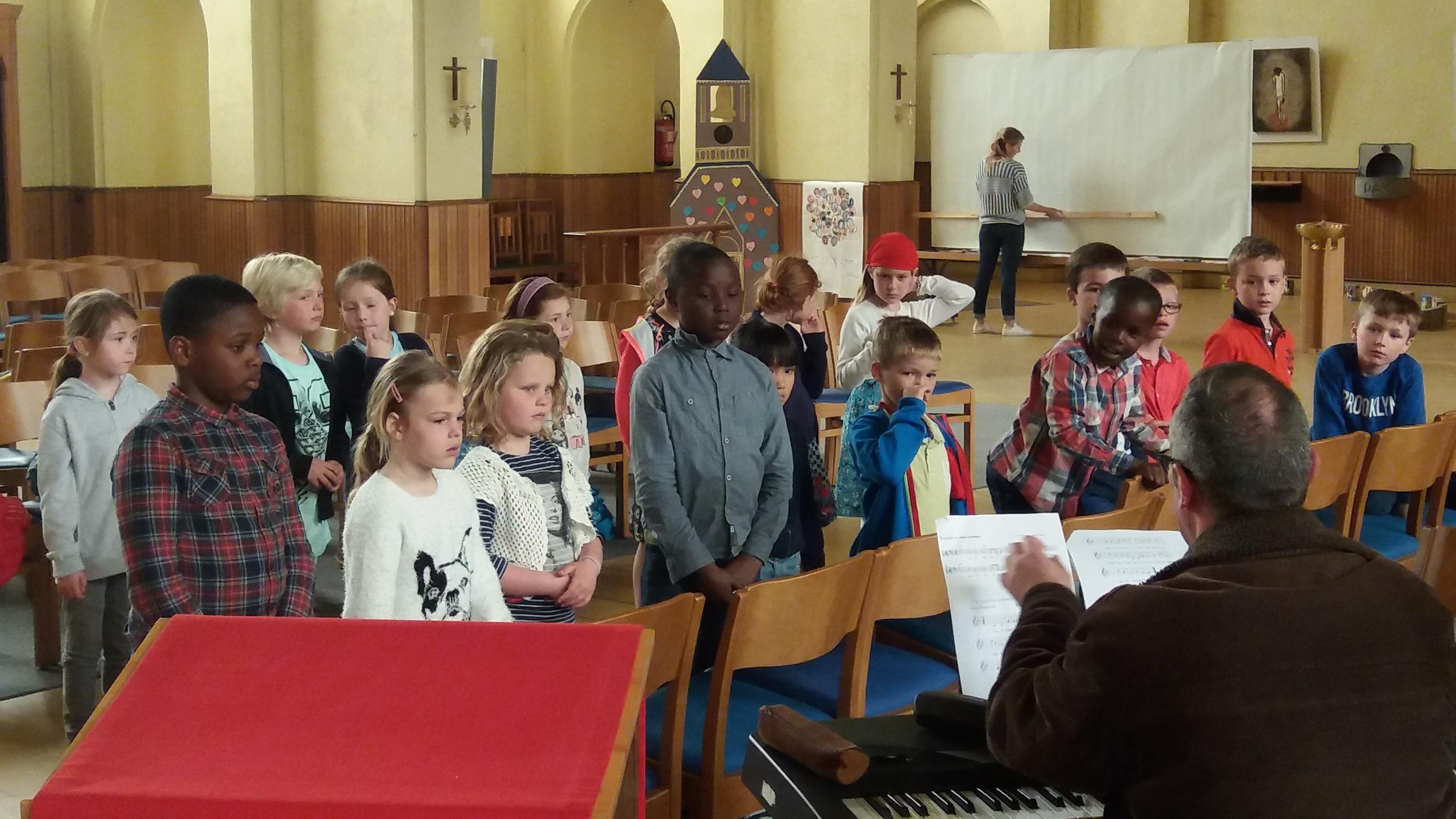 Voorbereiding op de eerste communie St.-Jozef Bredene-Sas