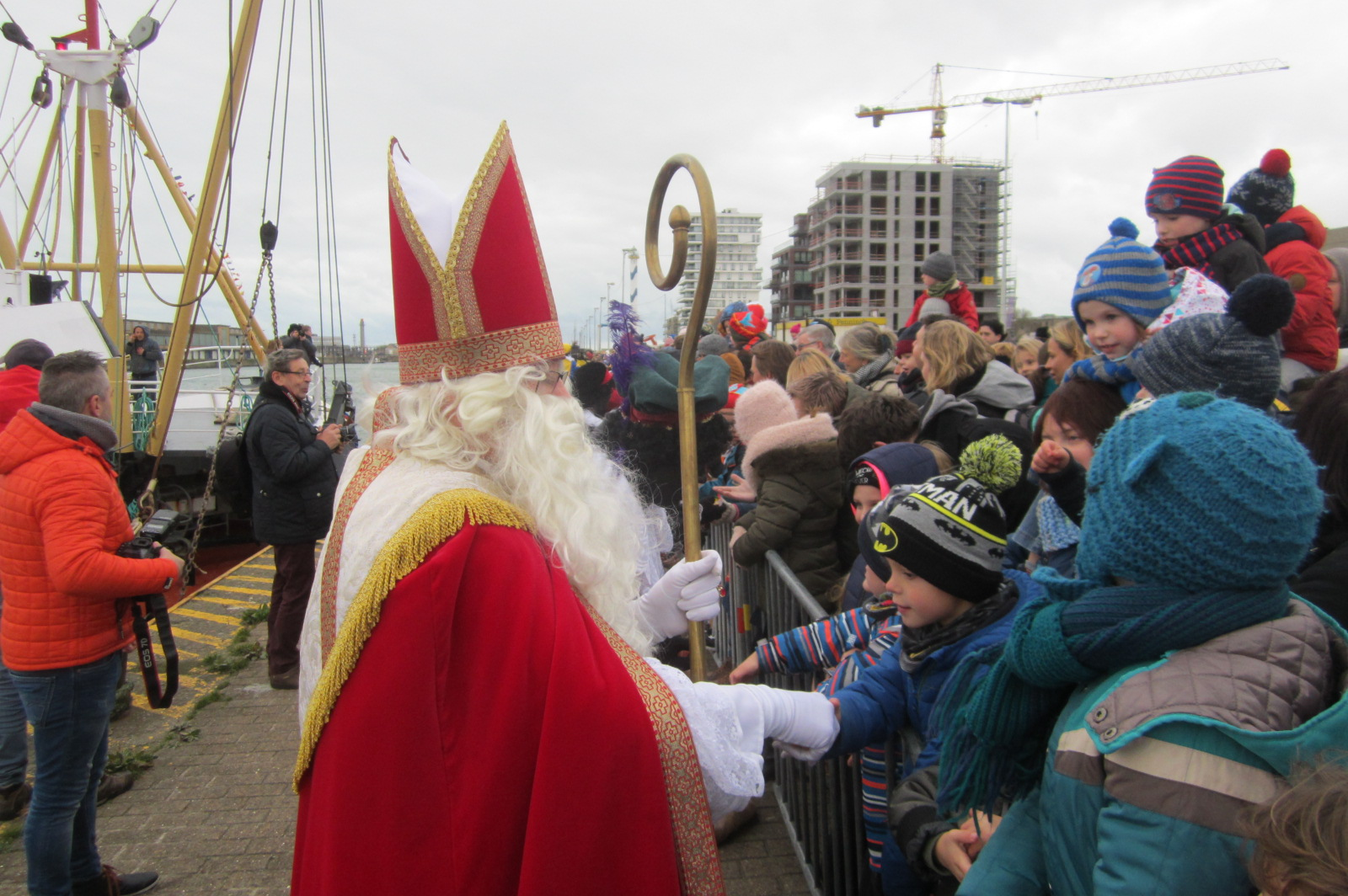 Aankomst van de Sint op de Vuurtorenwijk