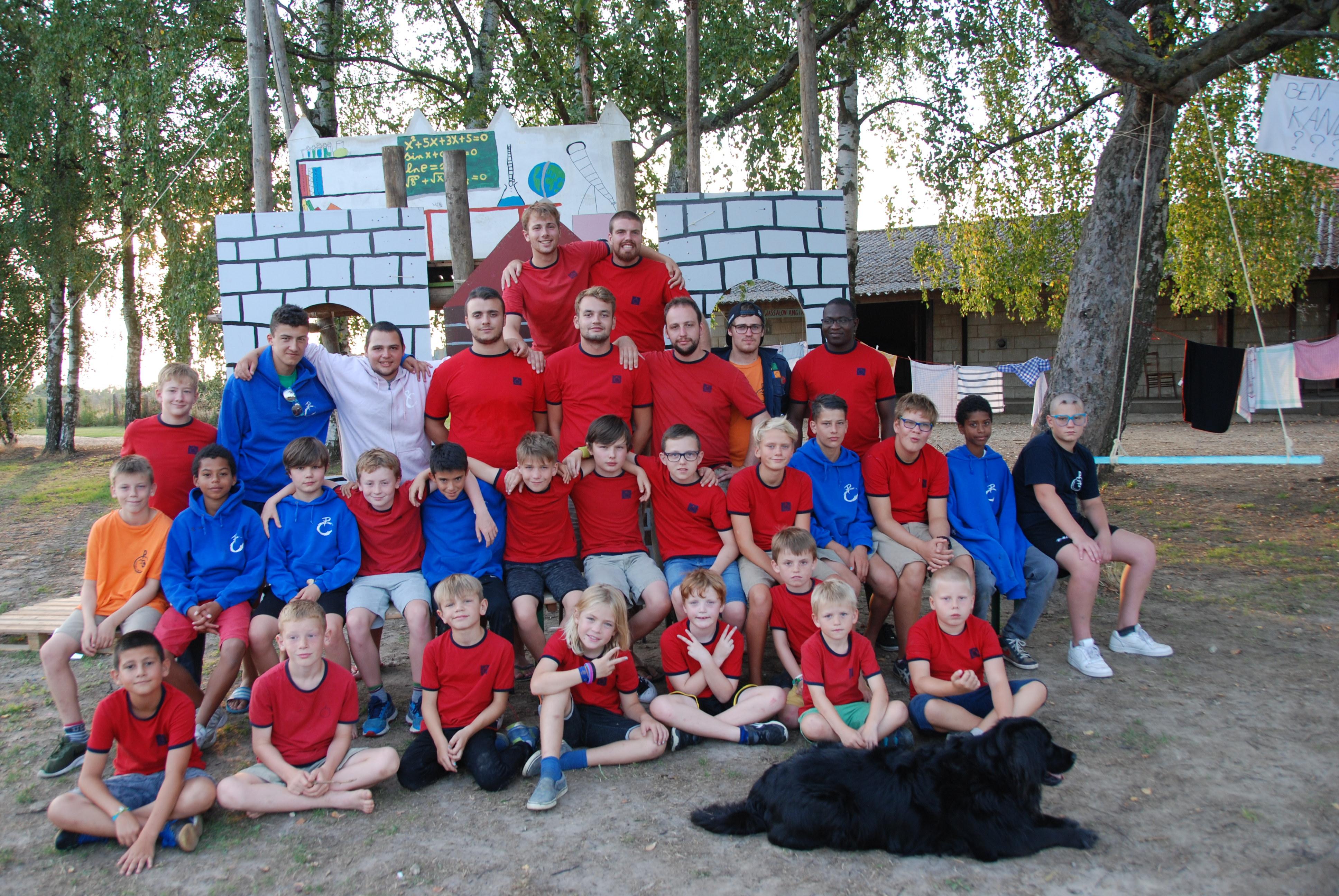 Chiro Noorderwind en Chiro Speelvogels op kamp in Eigenbilzen