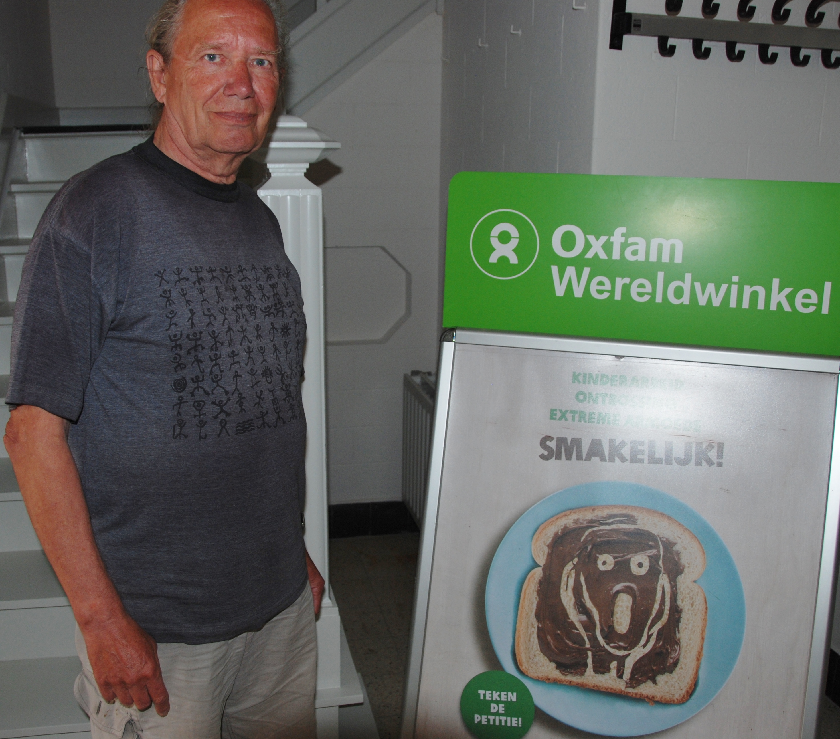 Fred Mannaerts, actief in de Wereldwinkel