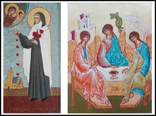 Nieuwe iconen in St.-Theresiakerk, geschonken door Rob Tas