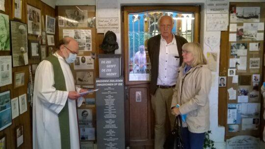 Inhuldiging monumentje in Visserskapel