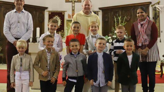 Eerste communie in St.-Rikier